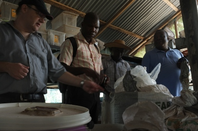 Partners visiting a research facility in Ghana. Picture: A. Aebi